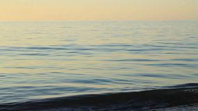 Quiet Waves and sunlight stock footage