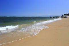 Quiet west amoy island sandy beach Royalty Free Stock Photos