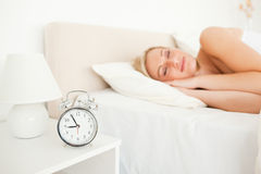 Quiet woman sleeping Royalty Free Stock Photography