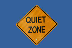 Quiet zone sign Stock Photos