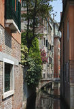 Quiete, canale affascinante, Venezia, Italia Immagini Stock Libere da Diritti