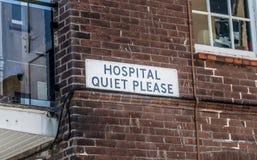 Quiete dell'ospedale Fotografie Stock Libere da Diritti