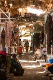 A quieter side street, in the Omdurman Souq Khartoum stock photo
