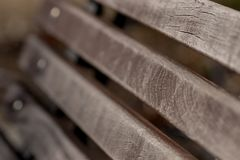 The quietest bench in the world. Where to seat. Abstract view of a bench stock photography
