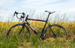 MBK Bicycle in the Field - Tour de France 2015 Royalty Free Stock Photography