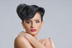 Quiff de coiffure Image stock