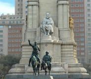 Quijote de Don et panza de sancho Image libre de droits