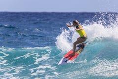 Quiksilver que practica surf Imágenes de archivo libres de regalías