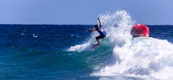 Quiksilver que practica surf y Roxy Pro World Title Event Fotos de archivo libres de regalías