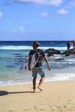 Quiksilver que practica surf y Roxy Pro World Title Event Fotografía de archivo libre de regalías