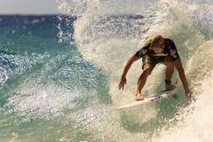 Quiksilver que practica surf y Roxy Pro World Title Event Fotos de archivo