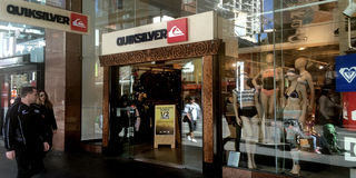 Quiksilver shop in Auckland, New Zealand Royalty Free Stock Photos