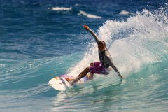 Quiksilver surfant Image stock