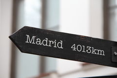 4013 quilômetros ao Madri Imagens de Stock Royalty Free
