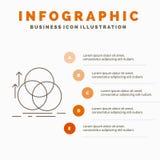 ?quilibre, cercle, alignement, mesure, calibre d'Infographics de la g?om?trie pour le site Web et pr?sentation r illustration libre de droits