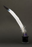Quill and inkwell Stock Photo