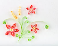 Quill Paper flowers Stock Photo