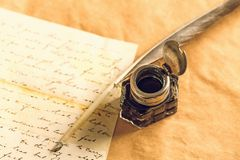Quill Pen Fotos de Stock