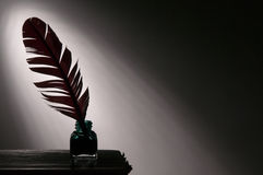 Quill pen and inkwell Royalty Free Stock Image