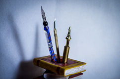 Quill Pen old fashioned vintage stock photo