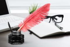 Quill pen stock image