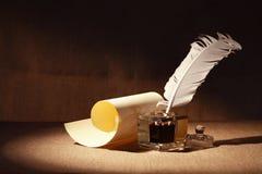 Quill And Scroll foto de archivo libre de regalías