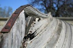 Quilla del barco viejo Fotografía de archivo