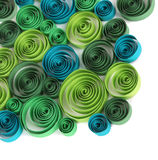 Quilled paper ornament Stock Image
