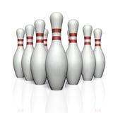 Quilles de bowling Photos libres de droits