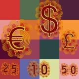 Quilling - argent Photos libres de droits