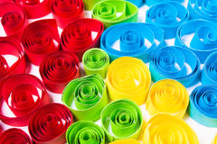 Quilling art. Color paper curls Royalty Free Stock Images