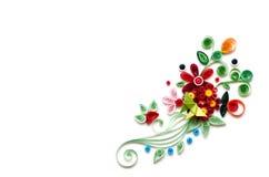 Quilling blommapapper på vit bakgrund Royaltyfri Foto