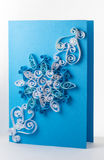 Quilling card with Royalty Free Stock Images