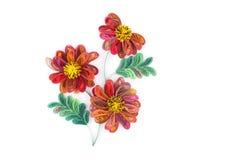 Quilling de papel, flores de papel coloridas Fotos de Stock