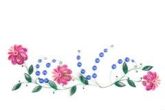 Quilling de papel, flores de papel coloridas Imagens de Stock Royalty Free