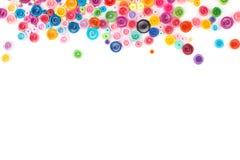 Quilling de papier, cercles de papier colorés Photographie stock