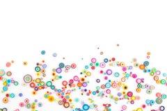 Quilling de papier, cercles de papier colorés Photo libre de droits