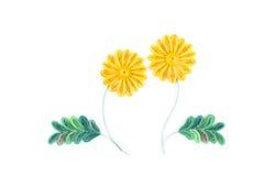Quilling de papier, fleurs de papier colorées Images libres de droits