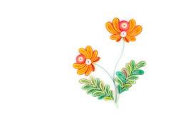 Quilling de papier, fleurs de papier colorées Photos libres de droits