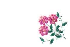 Quilling de papier, fleurs de papier colorées Images stock