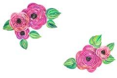 Quilling de papier, fleurs de papier colorées Photos stock