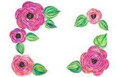 Quilling de papier, fleurs de papier colorées Photo libre de droits