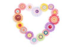 Quilling de um coração multi-colorido Foto de Stock Royalty Free