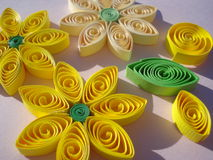 Quilling decorations Stock Image