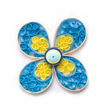 Quilling flower with paper coils Stock Images