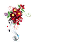 Quilling flower paper on white background stock photography