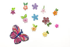 Quilling garden Stock Images