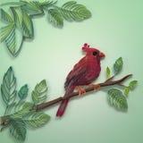 Quilling het document van de kleur vogel royalty-vrije illustratie