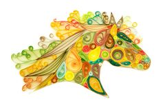 Quilling horse head Royalty Free Stock Photography