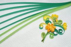 Quilling kwiat Obraz Stock